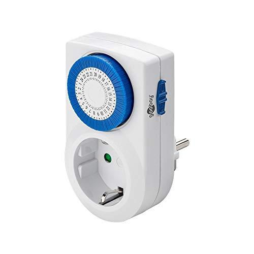 Goobay 59038 analoge Zeitschaltuhr zur präzisen und einfachen Steuerung von elektronischen Geräten, weiß