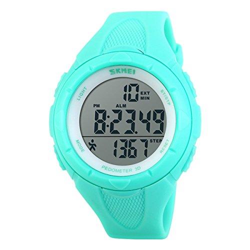 orologio da polso con contapassi Bel orologio sportivo blu impermeabile da uomo e donna
