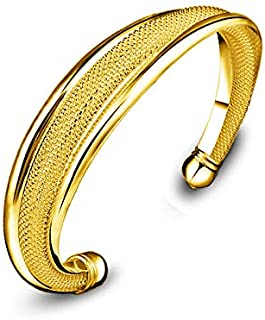 Gold Plated Open Bangle for Women Girl