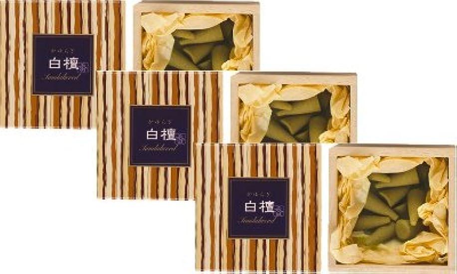仲介者ポスター普通の日本香堂 かゆらぎ 白檀 コーン型12個入 3箱セット