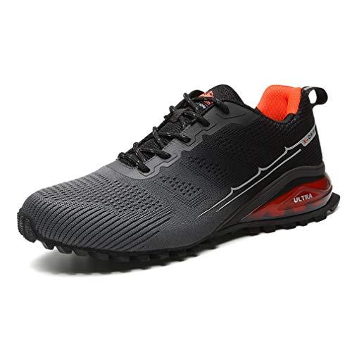 DANNTO Sportschuhe Herren Laufschuhe Turnschuhe Straßenlaufschuhe Atmungsaktiv Gym Sneakers(grau,42)