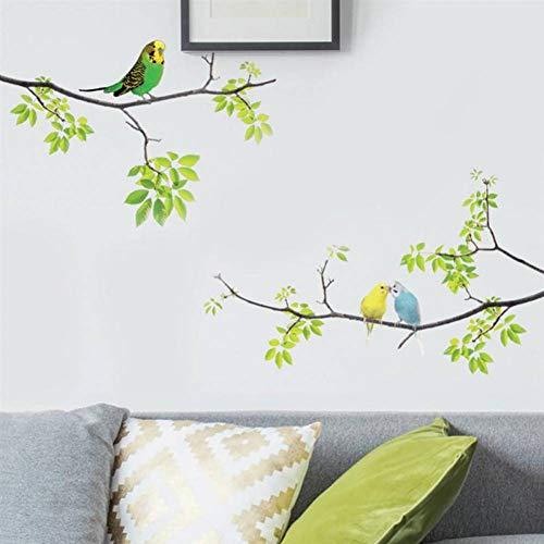 MMLFY Muursticker Vogels op de muur applique schors en vasthouden aan de verse afneembare muurstickers voor de kinderen woonkamer slaapkamer kleuterschool