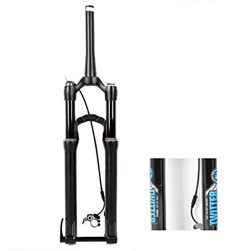 KQBAM Horquilla De Bicicleta De 29', Aleación De Aluminio Amortiguador Neumático Control Remoto Horquilla Delantera Liberación Rápida Conducción De 100 Mm