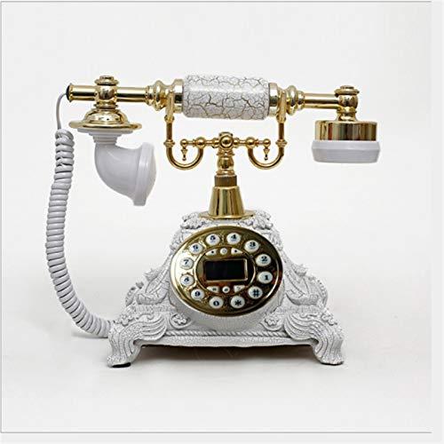 ZHAOH Línea Fija Retro Teléfono Vintage clásico Europeo Retro teléfono Fijo con Pantalla de la Pantalla LCD Auriculares para el hogar de la decoración de la Oficina del Hotel Teléfono Decorativo