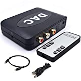 DAC Converter 192kHz Digital to Analog Audio...