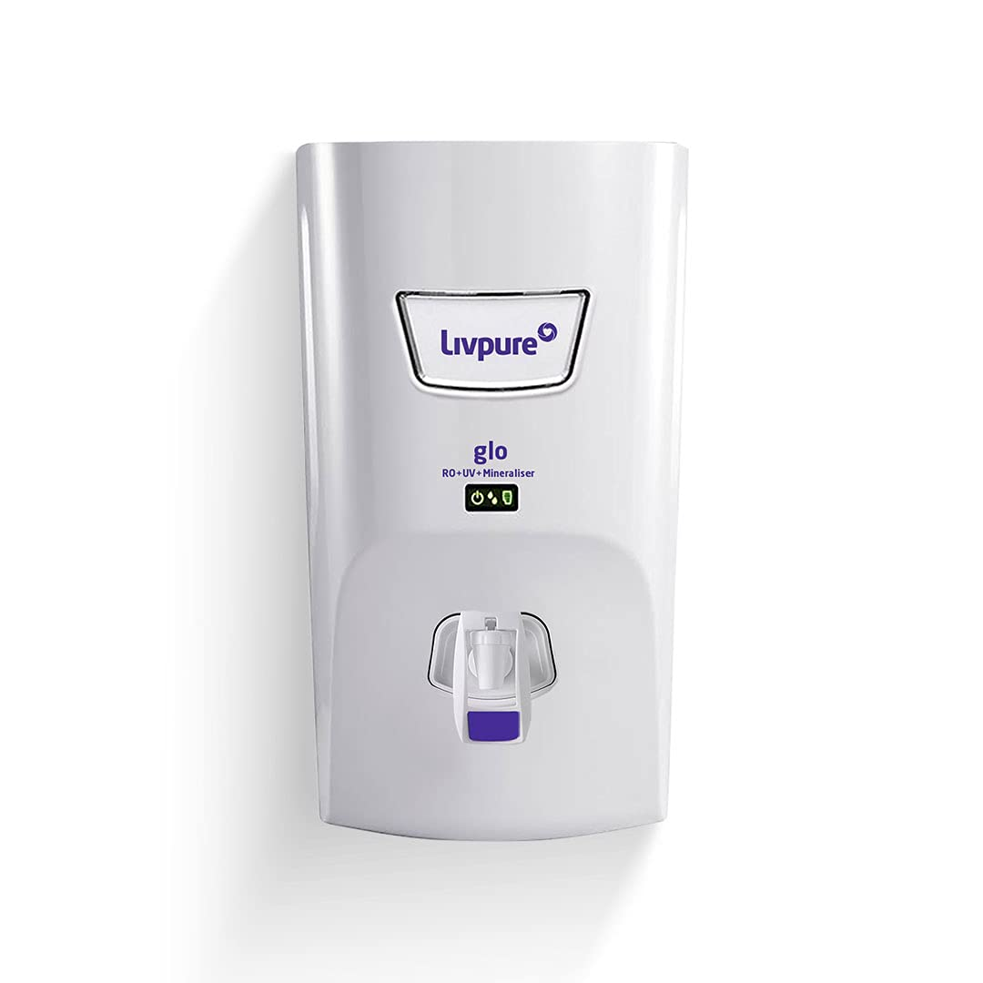 Livpure Glo RO+UV+Mineraliser+6 Stage Purification+7 Ltr Electric Water Purifier for Home