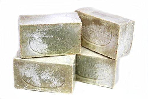 4x tradoro® Grüne Waschkernseife ca. 140g aus der Seifenmanufaktur Patounis, Wasch- und Reinigungsseife u.a. für Wäsche, Bodenbelege, Obst- und Gemüsereinigung etc.