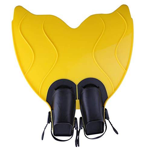 Schwimmflossen für Erwachsene, Schwimmflossen, Tauchen, Schwimmen, Fischschwanzform, PP + TPR, Taucherflossen L gelb