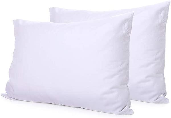Global Linens Set Of Two Premium Down Alternative Pillows 21 X 37 Size Premium Plush Fiber Fill Pillow Sleep Pillow Inserts Soft Fluffy Comfortable Pillow
