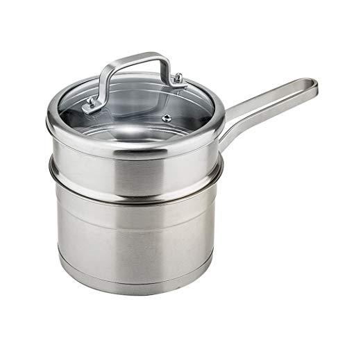 304 pot à lait en acier inoxydable antiadhésif pour bébé complément alimentaire pour bébé lait chaud épaissi mini pot vapeur pot à soupe;