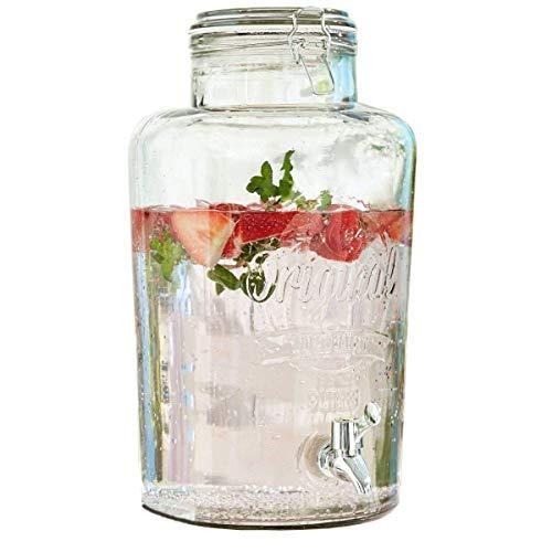 INtrenDU Wasserspender Getränkespender Dosierer mit Zapfhahn 8L Partyzubehör Party-Deko Saftspender Bowlegefäß