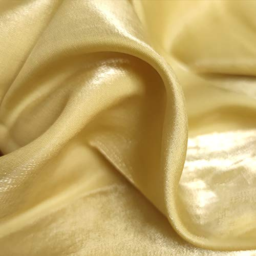 MUYUNXI Tela De Raso Forro De Tela para Vestidos De Novias Fundas Artesanas Vestidos Blusas Ropa Interior 150 Cm De Ancho Vendido por 2 Metro(Color:Dorado)