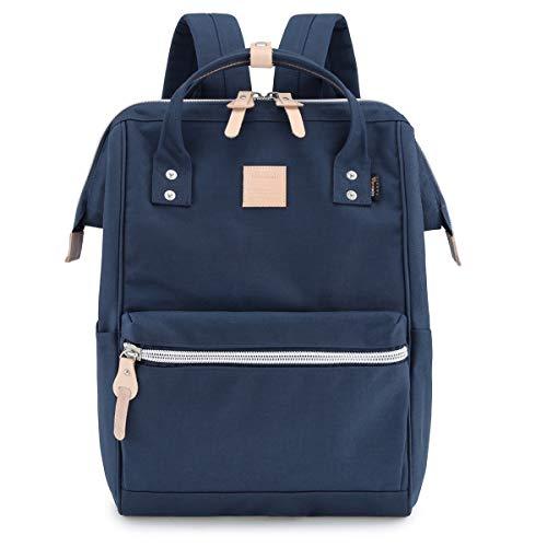 "Himawari Travel Backpack Large Diaper Bag School multi-function Backpack for Women&Men 17.7""x11.8""x7.9"" (Navy blue&plus)"