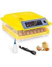 Incubadora Automática de 48 Huevos con Pantalla Digital Inversión Automática y Control Eficiente e Inteligente de Temperatura y Humedad