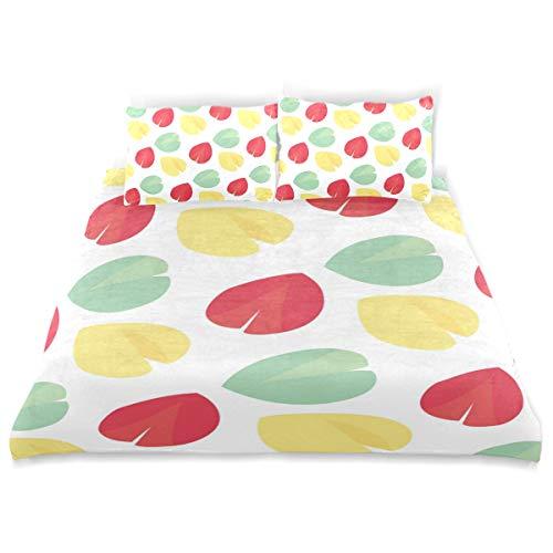 Honey Mill Fortune Cookie Pattern Kid Duvet Cover Set 3 Pcs Bedding Set Children Soft Comfortable Pillow Case Toddler Comfortable Comforter Cover Set Bed Cover for Girls Boys