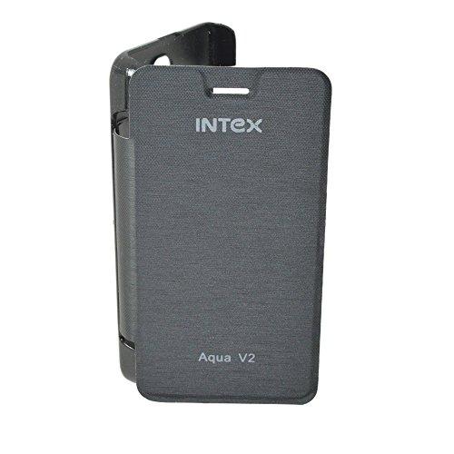 TOTTA Hard Back Flip Cover for Intex Aqua V2