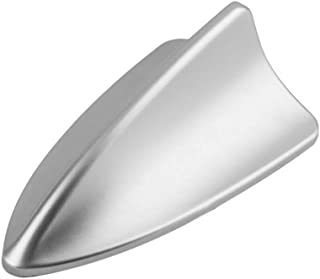 Universal Car Auto Shark Fin Roof Antenna Radio Decorate Aerial Cover (SILVER) by Folconroad [US Warehouse]