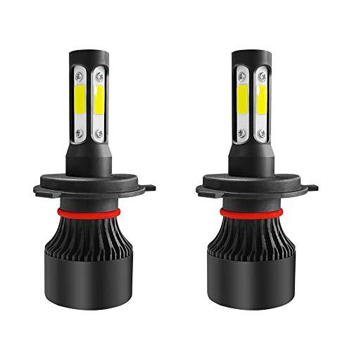 SYLOZ-URG S2 4 COB LED Faros de automóviles Bombillas H4 H7 H11 9005 9006 9007 50W 6000LM 3D 360 Grado Fog LÁMPARA 6000K URG (Color : 9005/HB3)