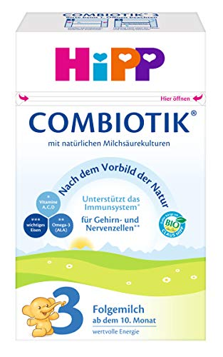 HiPP 3 Bio Combiotik, Folgemilch ab dem 10. Monat (600 g)
