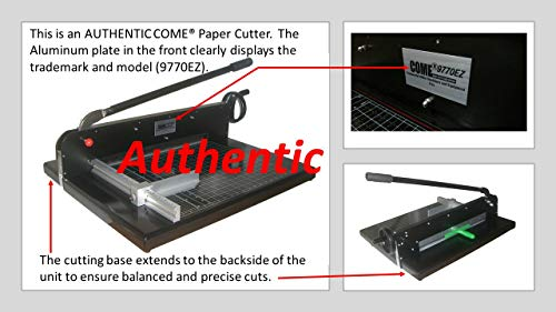 """Paper Cutter Authentic COME 9770EZ Paper Cutter 19Inch A2 19"""" Commercial Heavy Duty Guillotine Timmer Stack Paper Cutter 300 Sheets Metal Base Desktop Stack Cutter Trimmer for Home Office New"""