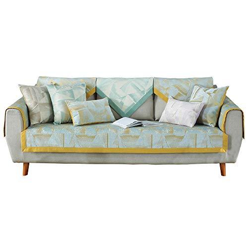 YUTJK Alfombrilla para sofá de Estudio de Van Gogh, Resistente a Las Manchas para los Animales Domésticos Sofá Cover, Seccional Antideslizante Multisize Sofá Cover, para sofá de Tela, Amarillo
