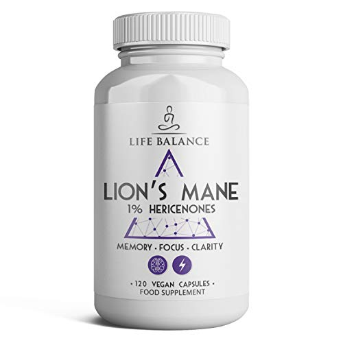 Lion's Mane Extract Capsules - Advanced Cognitive Support - Promotes NGF - Pullulan Capsules - Vegan - UK Made - No Additives (120 Capsule Bottle)