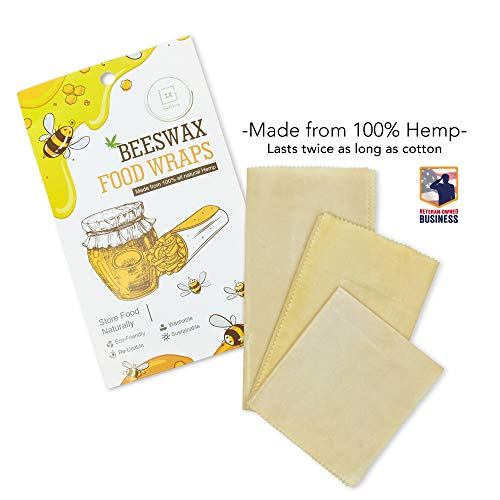 Hemp Beeswax Wraps  Reusable Produce Sandwich Cheese Snack Wrap  Eco Friendly Storage  Sustainable Kitchen Products  Zero Waste Food Wrap  Compostable Bees Wax Packaging  Hemp Foodwraps