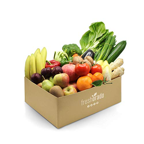 freshorado gemischte OBST & VEGGIE-BOX 8 kg frisches und leckeres Obst und Gemüse (4 Personen)