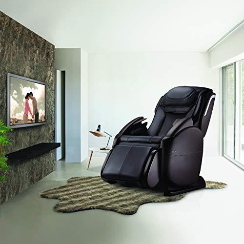 uDeluxe Full Body Massager Chair, Zero Gravity Massage, Extra-Long L-Track Design (Midnight Black)