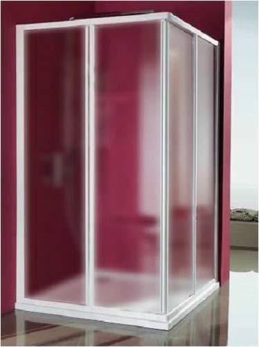 Mampara de ducha Acrílico 3 mm con apertura corredera, Medida: 68/80 x 88/100 cm, Altura 185 cm