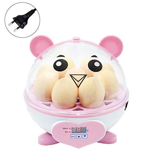 9 Eier Mini-Eierbrutkasten, Inkubator-Brutapparat mit automatischer Temperaturregelung, Heimbrutausrüstung für Hühner / Enten / Wachteln / Geflügel / Papageien