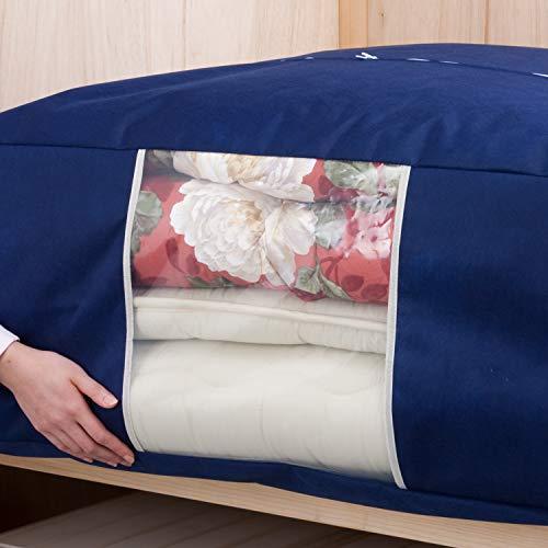 『アストロ 収納ケース 布団一式用(掛け・敷き布団各1枚) ネイビー 羽毛布団 収納袋 不織布 177-06』の6枚目の画像