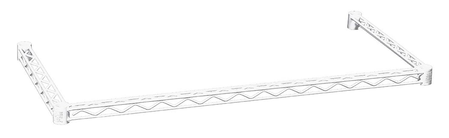 トレーニング逸話アパートホームエレクター 三方クロスバー ホワイト D450mm×W900mm H1836TWW