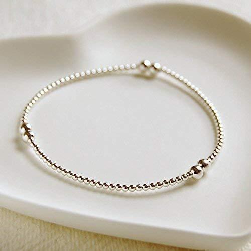 Silver Color Stretchable Beads Bracelet