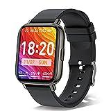 Smartwatch, 1.69'' Reloj Inteligente Hombre Mujer, Impermeable IP68 Reloj Deportivo con Pulsómetro, Monitor de Sueño, Monitores de Actividad, Cronómetro, Podómetro, Pulsera Actividad para iOS Android