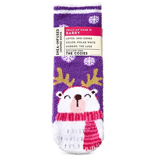 Bath and Body Works Barry The Polar Bear Shea-Infused Lounge Socks