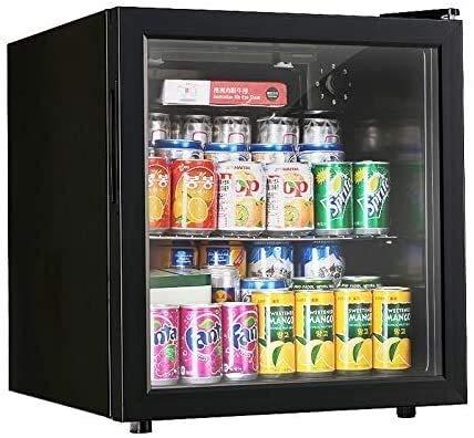 Nevera de vino Vino tinto termostato de conservación de los alimentos del refrigerador de vino termostato Inicio Ice Bar Pequeño almacenamiento fresco armario refrigerado té Gabinete (Color: Negro, ta