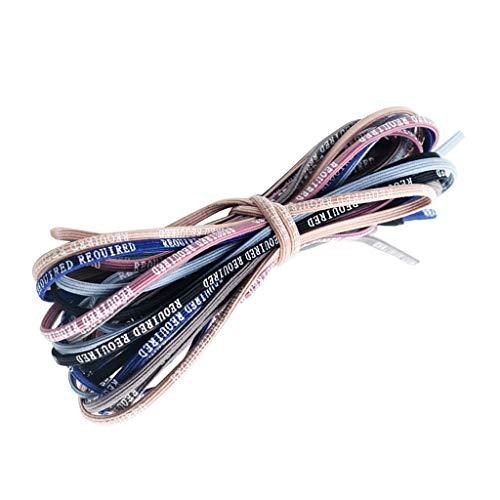 freneci 3mm Plat Imprimé Bandes De Cheveux élastiques Titulaire De Queue De Cheval Cheveux Corde Liens 60 Cm Beaucoup
