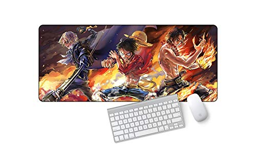 IGZNB Kreatives One Piece Anime Mauspad Für Erweiterte Spiele Extra Large 700X300X3 Mm Wasserfest Mit Rutschfester Unterseite Für Pc Laptop, C