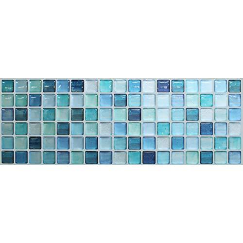 【 Dream Sticker 】モザイクタイルシール キッチン 洗面所 トイレの模様替えに最適のDIY 壁紙デコレーショ...