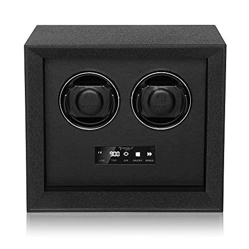Modalo Caja giratoria para 2 relojes automáticos, sistema seguro, iluminación LED