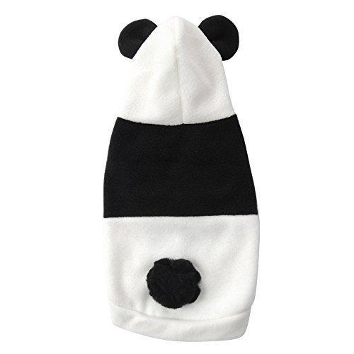 Hjuns® Fashion Chien Costume/vêtements/Manteau avec Capuche en Forme Panda pour Chien et Chiot en Cinq Tailles