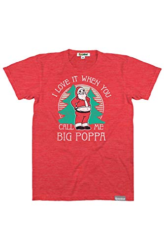 Tipsy Elves Men's Big Poppa Christmas Tee - Funny Festive Xmas Shirt: M