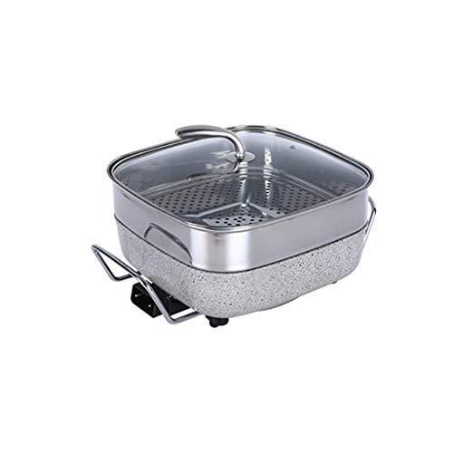 GJJSZ Ménage Multi-Fonction Plug-in Barbecue Hot Pot sans fumée Complet Antiadhésif Barbecue Hot Pot électrique Poêle électrique 4-6 Personnes (Taille:A)