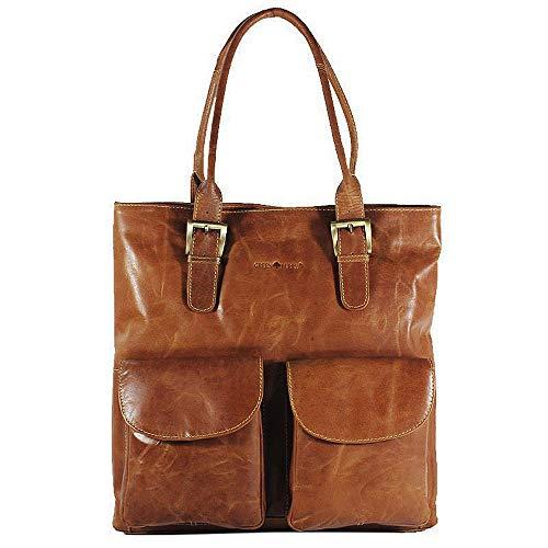 Green Burry,XL-Shopper, Schultertasche,Damentasche, Ledertasche,Vorfach, Buissnes tasche,Wickeltasche