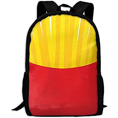 Sac À Dos,Frites Pommes De Terre Drole French Fries Adult Travel Backpack School Casual Daypack Oxford Outdoor Laptop Bag Sacs pour Ordinateur en Bandoulière