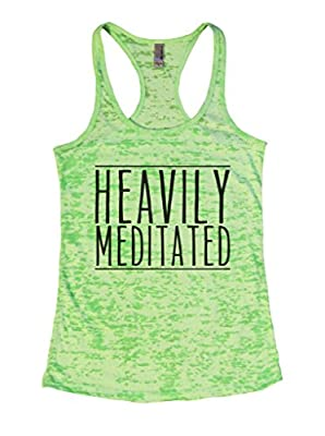 Womens Burnout Tank Heavily Meditated Rx Yoga Relax Chill Ladies Shirt Funny Threadz