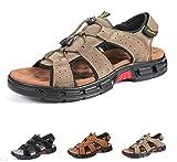 Gracosy Sandales de Randonnée Hommes, Chaussures de Marche Sports Été en Cuir...