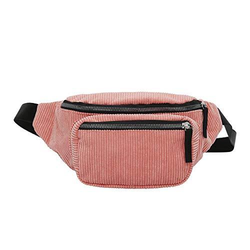Everpert Damen Gürteltasche Bauchtasche,Vintage Cord Hüfttasche Frauen Mädchen Pouch Gürtel Brust Taschen Messenger Schulter Handtaschen