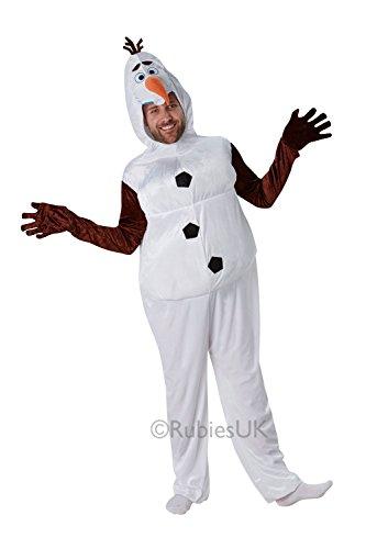 Rubies 810823 Adultes Costume de Disney Frozen Olaf – Olaf Adulte – Taille Standard